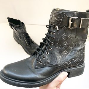 NEW Vince Camuto Black Tanowie Combat Boots